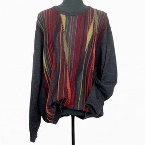 Vintage Textured Oversize Knit Grandpa Sweater